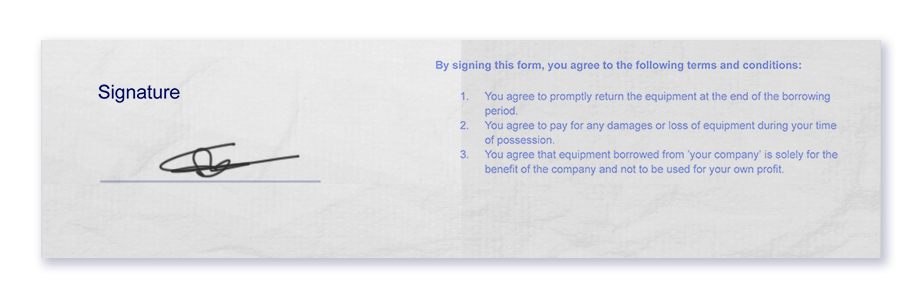 Equipment-Checkout-Signature